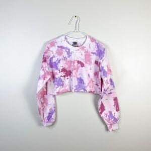 Small Crop Top Sweatshirt Custom Dyed Comfy